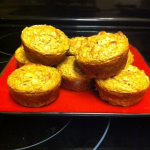 Fall is Here…Banana Pumpkin Protein Muffins