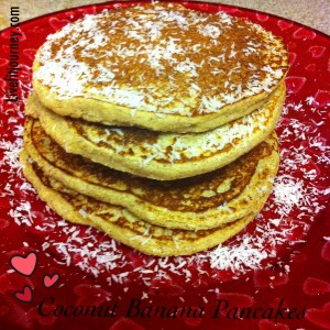 Clean Coconut Banana Pancakes