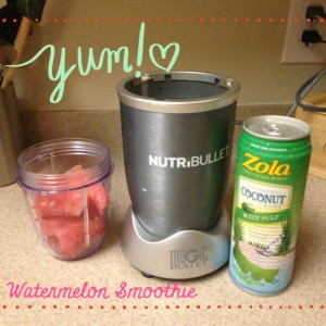 Watermelon Smoothie & Giveaway